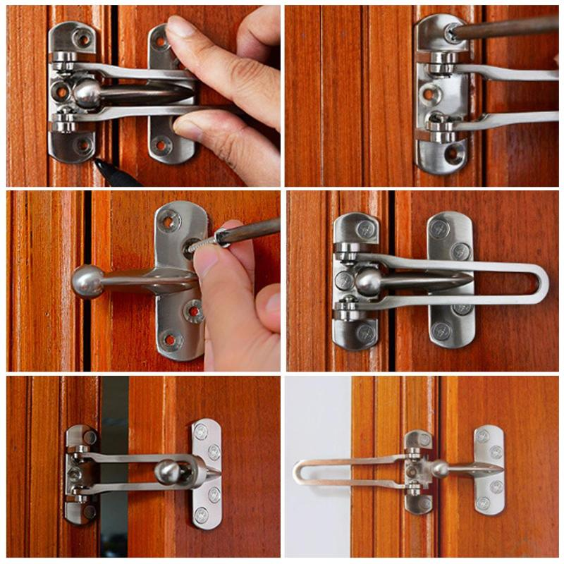 107*67mm Zinc Alloy Hasp Latch Lock Door Chain Anti-theft Clasp Window Cabinet Locks Tools For Home Hotel Security Hardware high quality oil seal zinc alloy door chain latch door security chain door chain guard for hotel door hidden anti theft chain