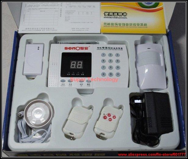 ФОТО Wireless alarm system,support 99 zones digital LCD display,anti-theft detector alarm