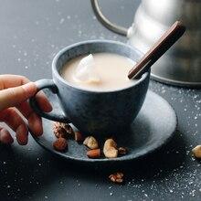 Элегантный керамический s цветочный керамический простой набор кофейных чашек чайный Европейский китайский текопп лучшие чашки напитки поставки 5B5096