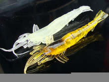 10CM/6.5GLarge shrimp bait luminous bionic simulation fake soft lures