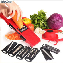 Plastic Vegetable Fruit Slicers & Cutter With Adjustable Stainless Steel Blades Carrot Potato Onion Grater