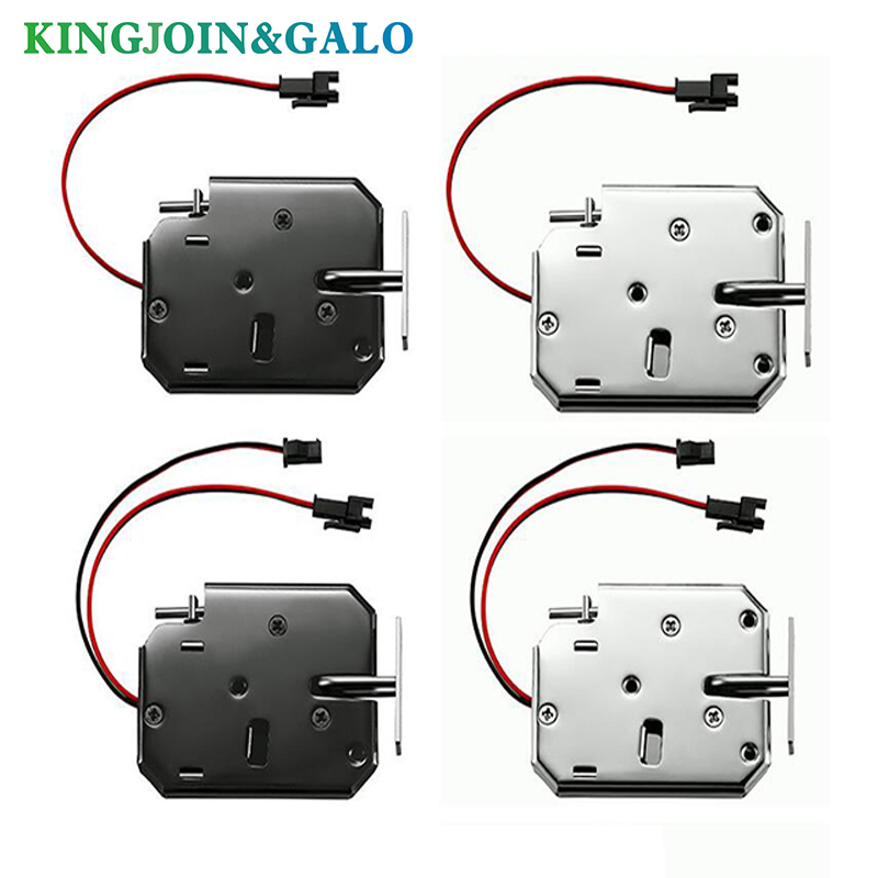 12V DC Door Lock Electric Control Lock Electronic Door Lock Cabinet Drawer Lockers Fechadura Latch Steel Black
