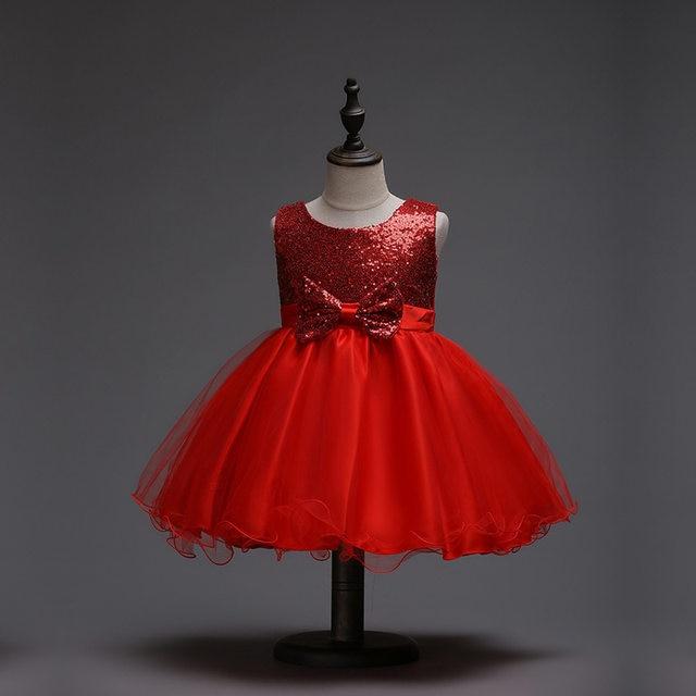 Online Shop Baby Girls Evening Gown Sleeveless Dress for Children ...