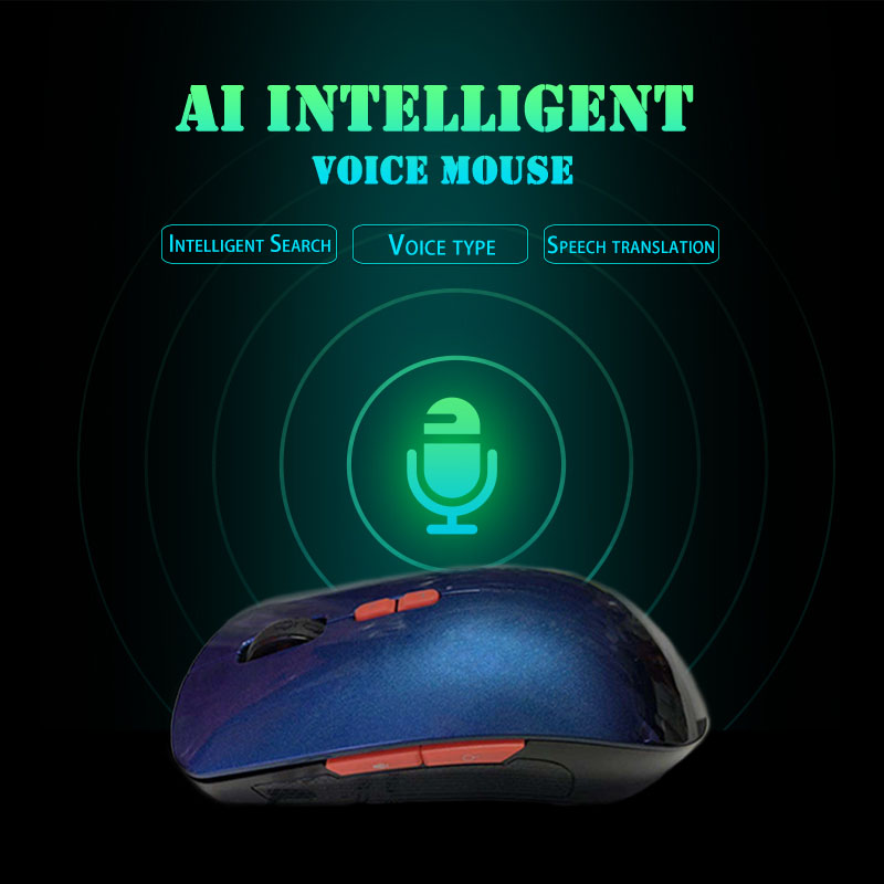 2.4G sans fil intelligent souris vocale contrôle vocal entrée clé multi-langue USB souris de charge QJY99