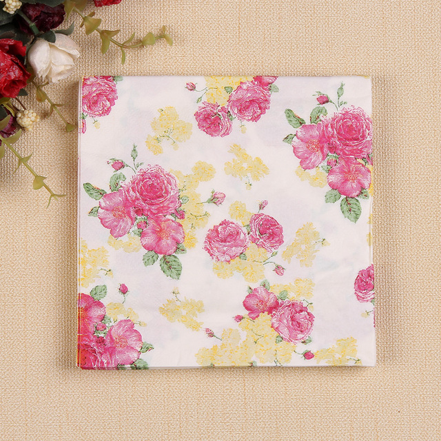 20 pcs small floral paper napkin tissue paper 100 virgin wood 20 pcs small floral paper napkin tissue paper 100 virgin wood tissue for wedding party mightylinksfo