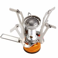 Mini Outdoor Camping Hiking Picnic Gas Cooking Food Water Stove Windproof Excellent Heat Free Shipping