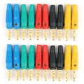 Hot Sale 20 Pcs Gold Plated 4mm Banana Plug Screw To Speaker Amplifier Binding Post Test Probes Adapter