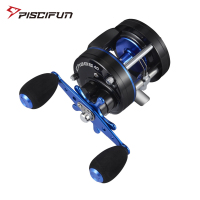 Piscifun CHAOS Right Left Handed Metal Fishing Bait casting Reel Super 5.3:1 Max drag 9.1kg Fishing Reel Black Blue wheel Drum