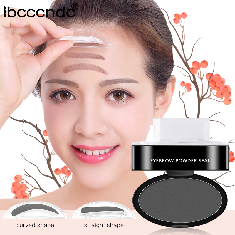 Eyebrow Enhancers 5.5g Deep Grey Eyebrow Stamp Powder Seal Shadow Set Waterproof Long Lasting Natural Eyes Brow Palette Delicated Lazy Quick Easy Attractive Designs;