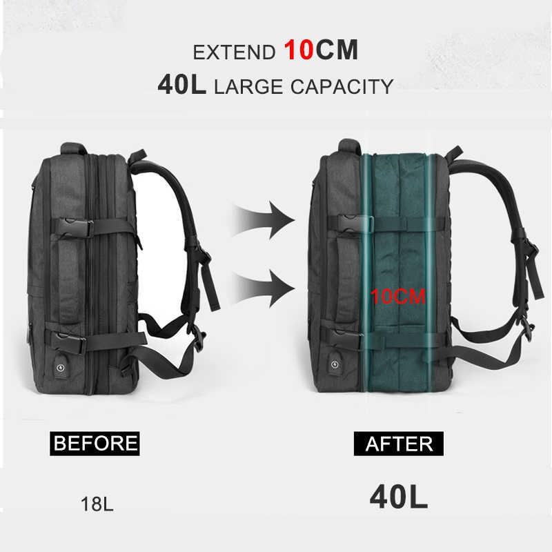 Perjalanan 17 Inch Laptop Ransel untuk Pria Wanita Tas Notebook 15.6 dengan Biaya Usb Bagpack Outdoor Bisnis Tas Ransel Sekolah