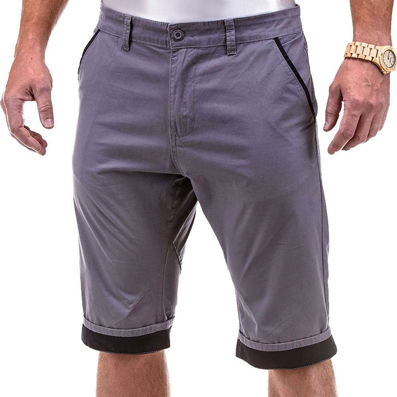 New Brand Summer Male Casual Cargo Shorts Patchwork Work Short Pants Pocket Shorts Holiday Beach Short-Pants