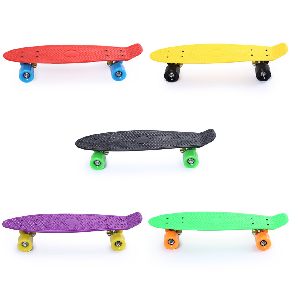 5 Color 22 Inches Shock Resistant Skate Board Freestyle Cool Mini Cruiser Long Skate Board 60 x 45mm PU Wheel Skateboard 2016 new peny board skateboard complete retro girl boy cruiser mini longboard skate fish long board skate wheel pnny board 22