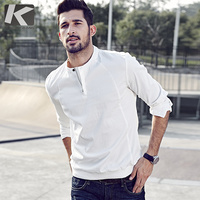 2017 Spring Mens Casual Shirts Patchwork Zipper Black White Brand Clothing For Man S Long Sleeve