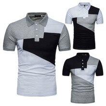 купить ZOGAA Men Casual Short-sleeve Shirts Summer Men Trun-down Collar Shirts Male Contrast Color Silm Fit Clothing Tops 2019 New по цене 833.68 рублей