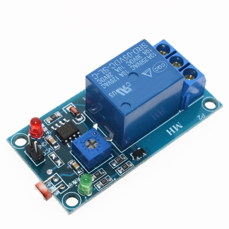 <font><b>5V</b></font> Light Photoswitch Sensor Switch LDR Photoresistor Relay Module Light Detection Photosensitive Sensor <font><b>Board</b></font> image