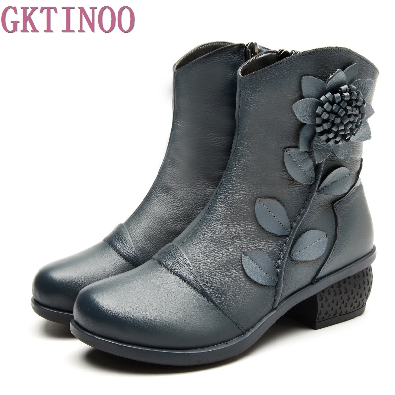 aliexpress buy 2017 ankle boots genuine