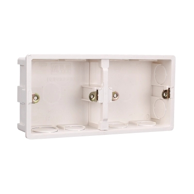 Double row switch panel bottom box hidden box bottom box built-in switch box type 86 switch panel general model