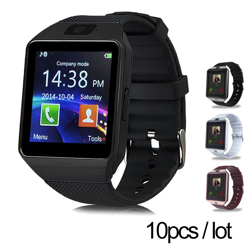 10pcs/lot DZ09 smartwatch for Apple android phone smart watch Anti-lost support with camera SIM/TF card MP3 pk GT08 A1 U8 smart watch v9 dz09 clock with camera bluetooth connected sim card smartwatch for ios android phone pk gt 08 dz 09 sport watch