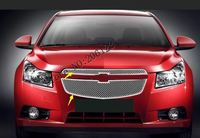 For 2009 2013 for Chevrolet Cruze modified metal grid overlay front racing grills trim