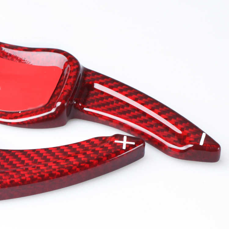 ディーアクセサリー炭素繊維ステアリングホイール dsg パドルシフターフォルクスワーゲン Vw ティグアンゴルフ 6 R GTI トゥアレグパドルギアボックス