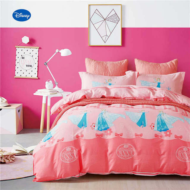 disney frozen elsa gedrukt dekbed beddengoed set kid meisjes slaapkamer 600tc katoen bed cover twin volledige
