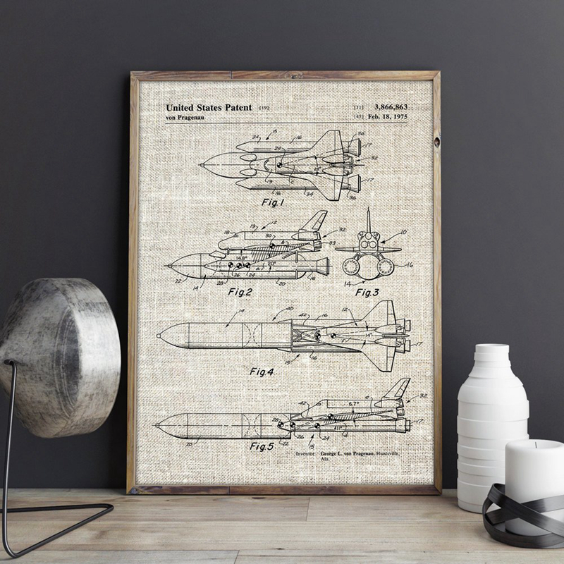 Space Shuttle Wall Art Prints