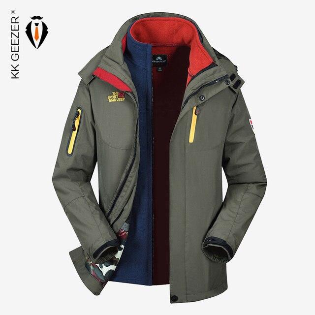 2 IN 1 Jacke Männer Winter Jacke Wasserdicht Softshell M 5XL Winddicht Militär Plus Größe Dicken Fleece Parkas Lose Mantel Winddicht