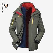 2 IN 1 Jacket Men Winter Jacket Waterproof Softshell M 5XL Windproof Military Plus Size Thick Fleece Parkas Loose Coat Windproof