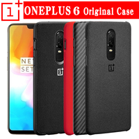 100 Original Oneplus 6 Case Official Sandstone Karbon Nylon Oneplus 6 Back Cover One Plus 6