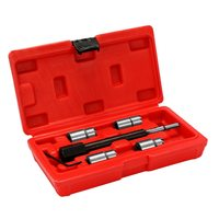 5 Piece Diesel Injector Seat Cutter Remover Removal Tool Kit For Delphi Bosch BMW Merc CRD PSA Ford Fiat Peugeot SK1083