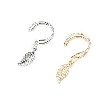 Clip Earrings Vintage Leaf no pierced ear large collection ear jacket wrap ear cuff brincos 5