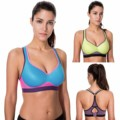 Women's Medium Impact Wire Free Molded Cup Racerback Sports Bra