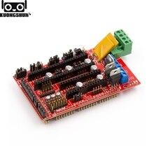 KUONGSHUN RAMPS 1,4 панель управления, материнская плата, детали для 3D принтеров, щит, Красный Черный пульт управления s Ramps1.4, аксессуары для плат