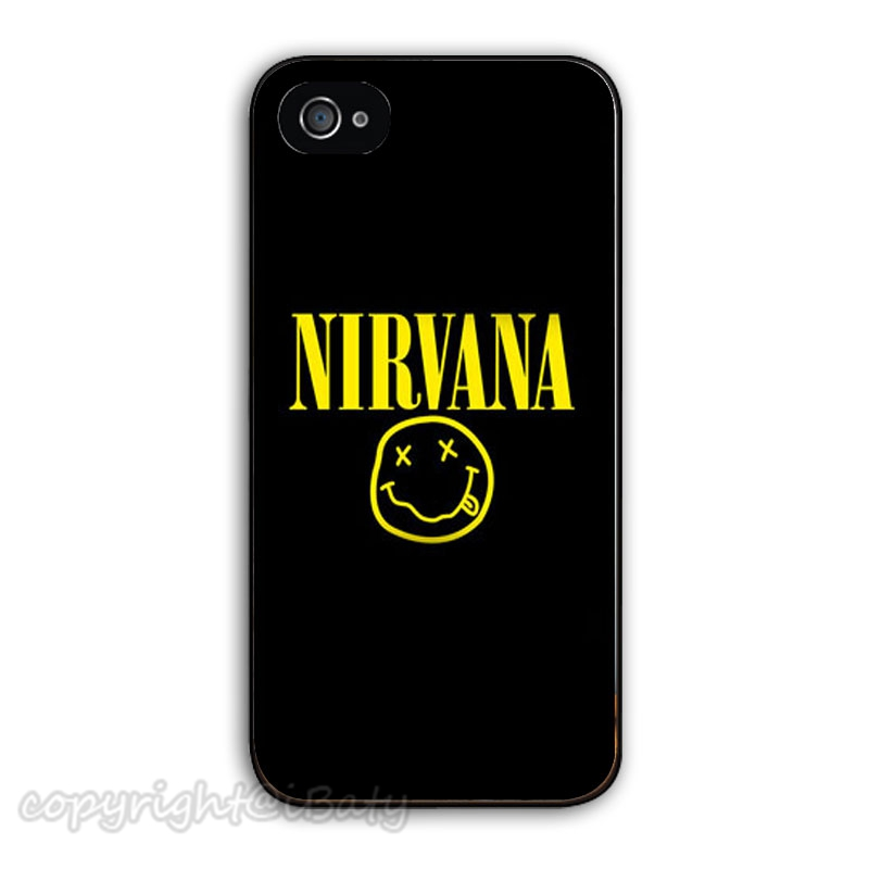 Hot legend rock band Nirvana funny smiley face hard plastic phone case cover for iphone 4 4s 5 5s 5c 6 6 plus