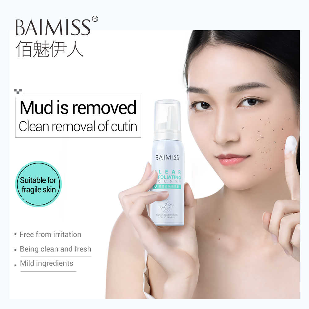 BAIMISS Face Cleaning Mousse Clear Exfoliating Facial Care