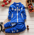 BibiCola nova moda primavera crianças esporte terno meninos roupas conjunto agasalho set crianças Zip cardigan roupas roupas de natal