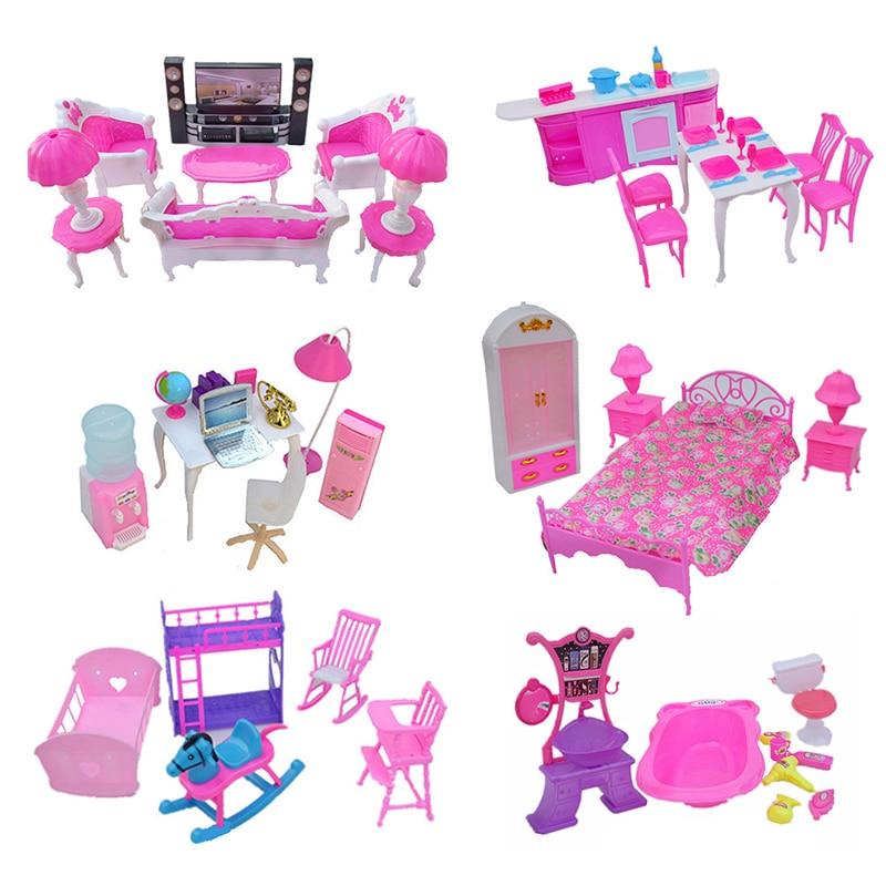 (Jimusuhutu) Doll Accessories Mini Furniture Super Combination Pretend Play Living Room HiFi-TV Toys For Barbie Dolls Girl Gift