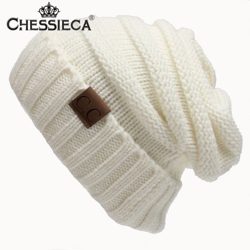 CHESSIECA 2017 New Fashion Skullies & Beanies Winter Cap For Women Knit Hats Outdoor Warm Wool Crochet Cap Female Balaclava skullies