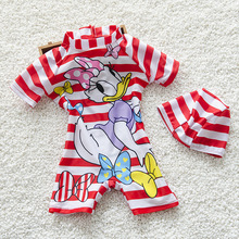 junior girls swimsuit fancy dress costumes short sleeves bathing suits swimwear WetSuit in kids size maillot de bain enfant fill