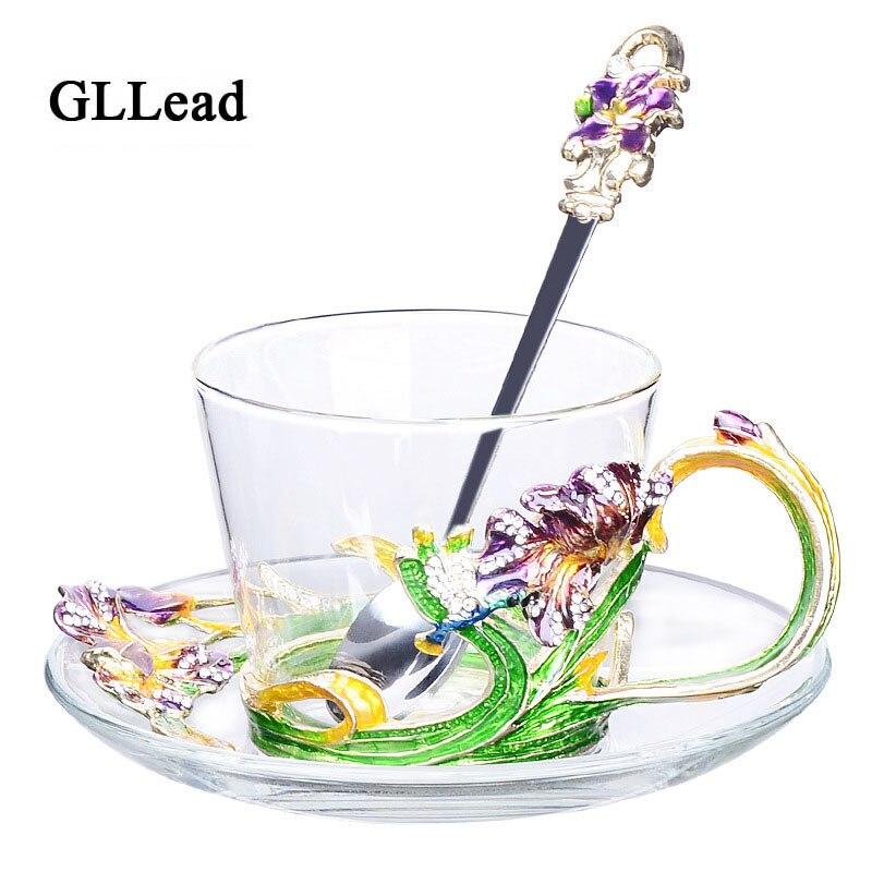 GLLead créative mode émail tasse à café thé européen après-midi thé noir tasses maison de haute qualité boisson