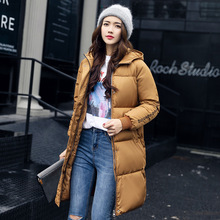 abrigos mujer invierno 2017 winter-autumn cotton long basic jacket women hooded padded warm coat manteau hiver femme thick coats