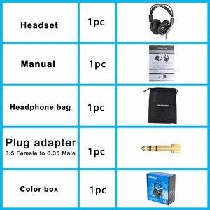 Image 5 - HP288 ハイファイヘッドフォンセミオープン過耳 3.5 6.3 プラグイン調整と軽量ヘッドバンドハイファイヘッドセットヘッドフォン