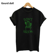 S-XXL DON'T TOUCH ME Cactus Casual Summer T-shirts For Women