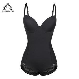 Image 1 - TOPMELON Sexy Lingerie Slim Silk Solid Shapewear for Women Smooth Soft Bodysuit Tummy Shaper Underwear Lingerie Black Nude