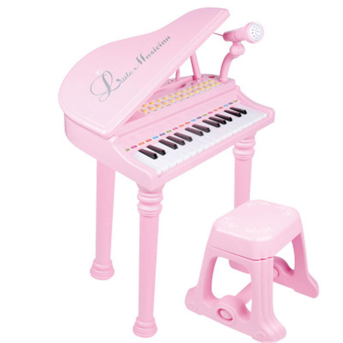 31 Keys Kids Piano Toys Electronic Keyboard Piano Light Microphone Learning Toys Musical Instrument Children Gift 3 Colors