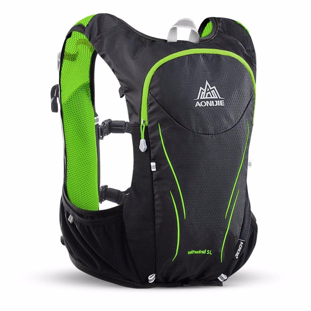 AONIJIE Sports de plein air Trail Running sac à dos 5L Marathon gilet d'hydratation Pack pour 1.5L sac à eau Super léger vélo randonnée sac - 2