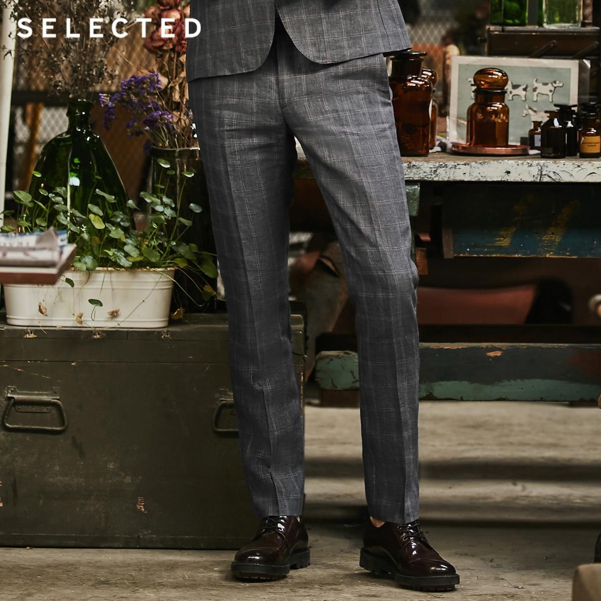 GESELECTEERDE Vlas check business leisure slim pak broek S  418218506-in Broek pak van Mannenkleding op AliExpress - 11.11_Dubbel 11Vrijgezellendag 1