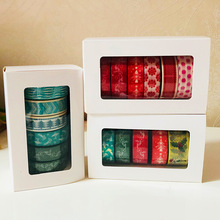Лучшие 5-6 Rolls / set Washi Tape Christmas Series Packed by White Box