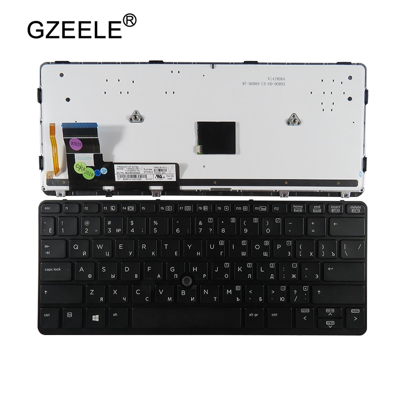 GZEELE Russian RU Keyboard For HP For Elitebook 720 G1 ,720 G2 ,725 G2 , 820 G1 ,820 G2 Black Keyboard With Backlit