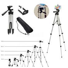 Support de trépied de caméra télescopique professionnel en aluminium pour trépied de caméscope dappareil photo numérique pour téléphone intelligent iphone